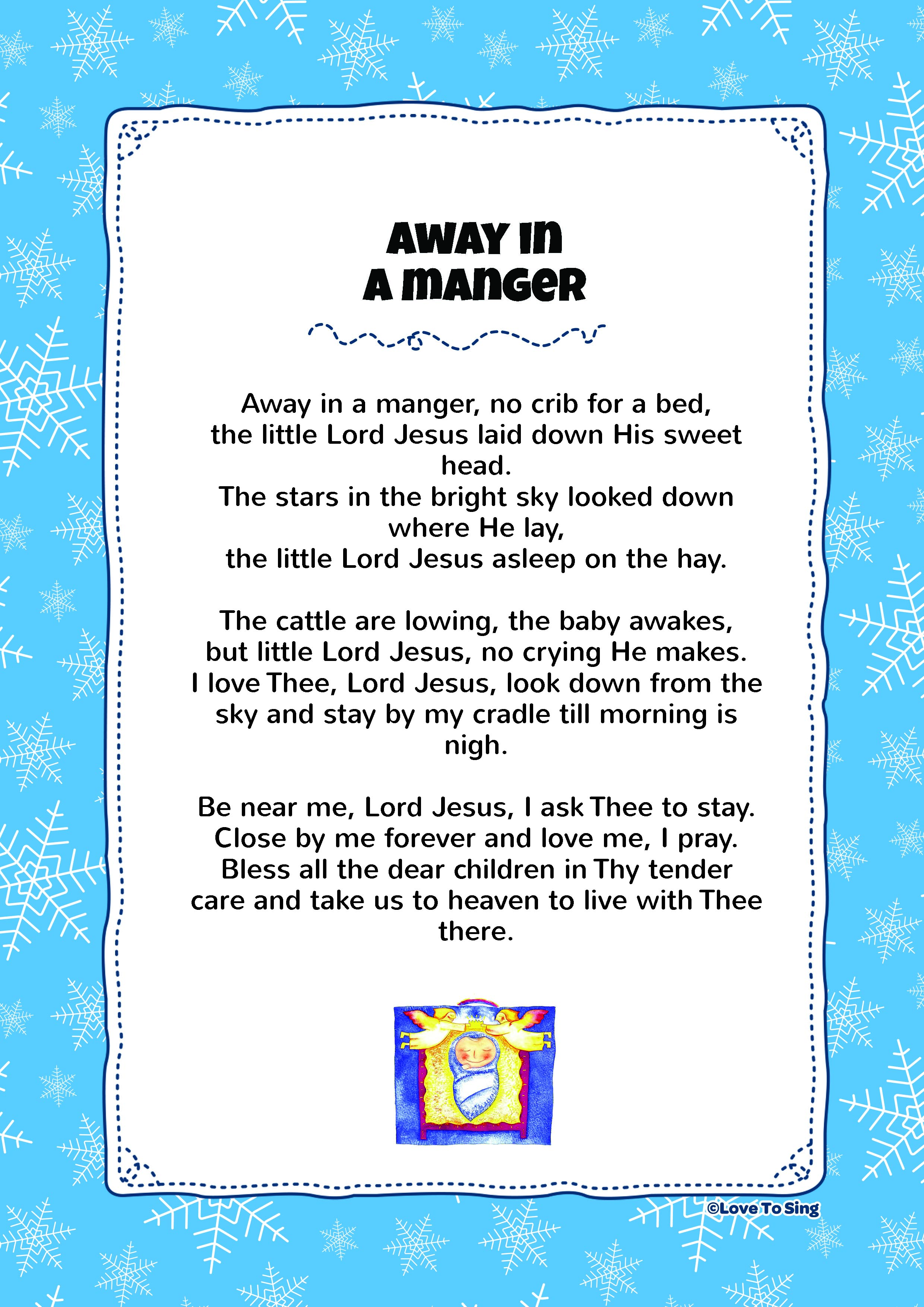 Away In A Manger Love To Sing