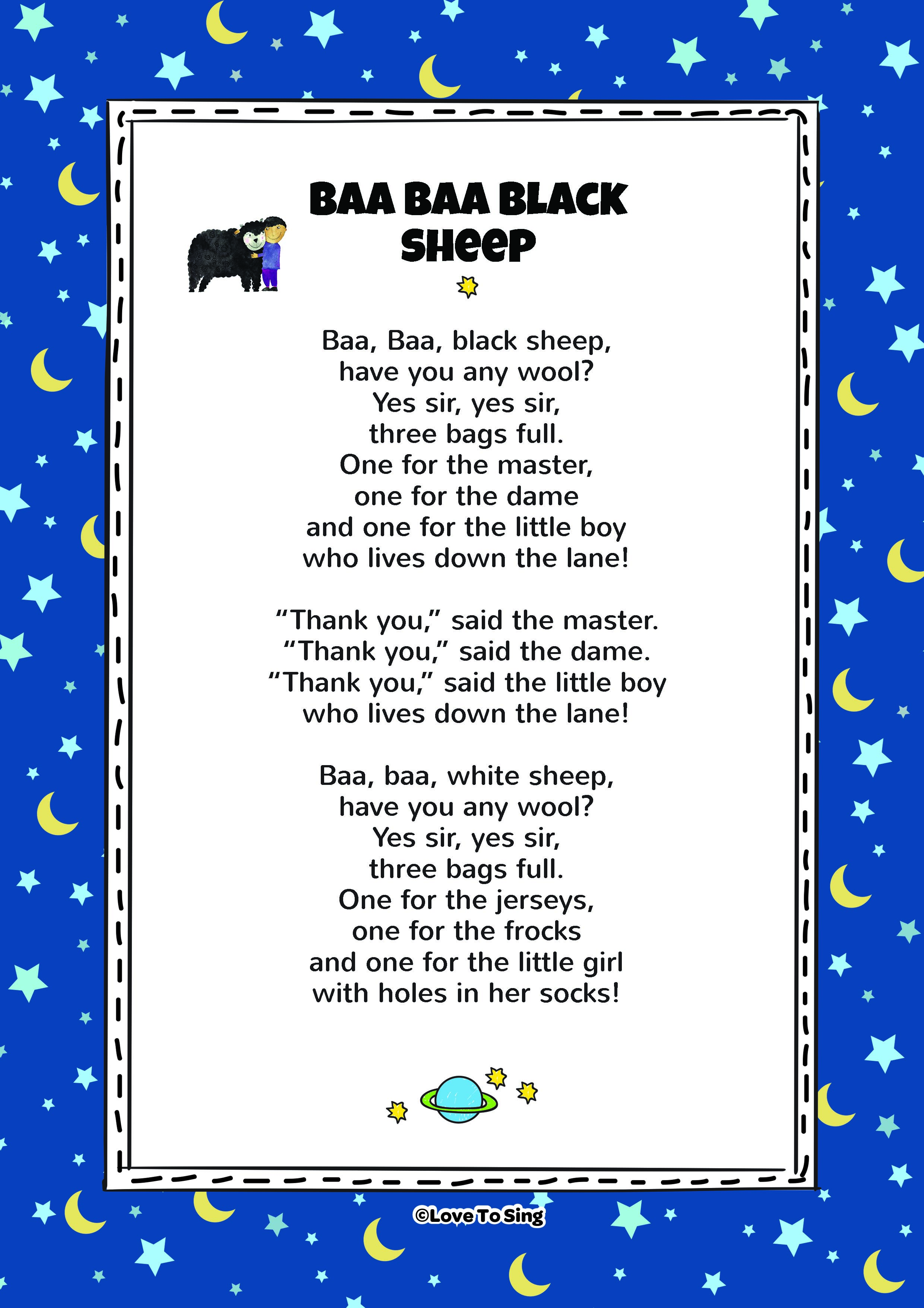 tinyschool baa baa black sheep