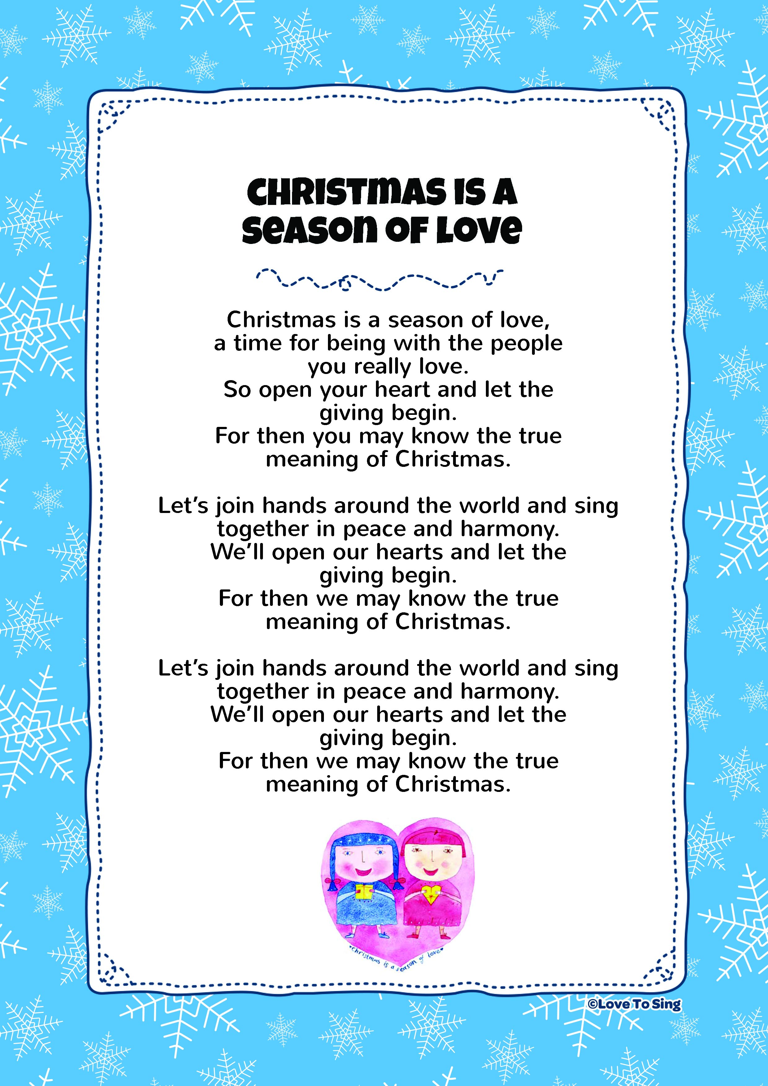 Christmas Is A Season Of Love | Love To Sing