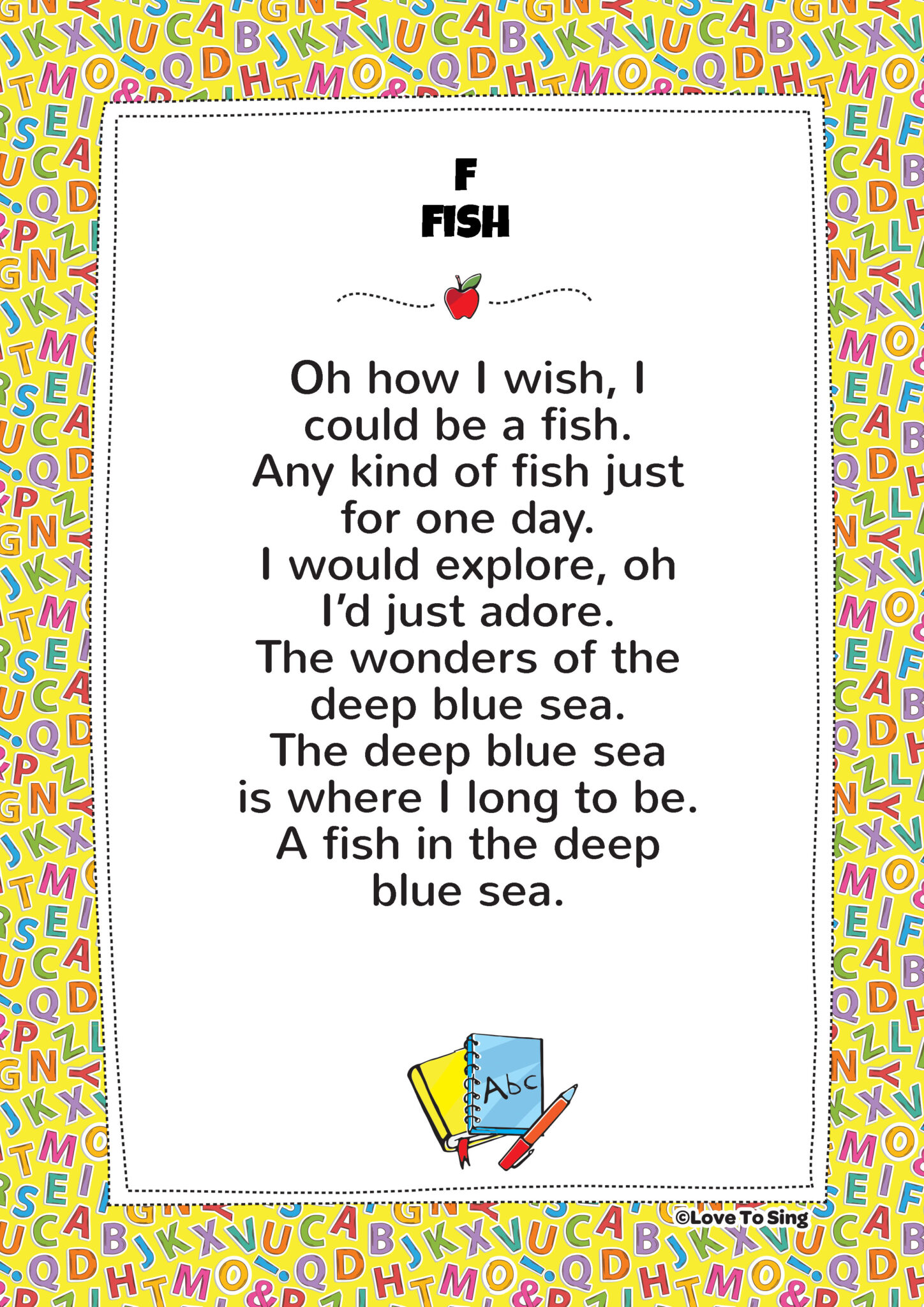 F fish phonics song free video song lyrics activities for Fish songs for preschoolers