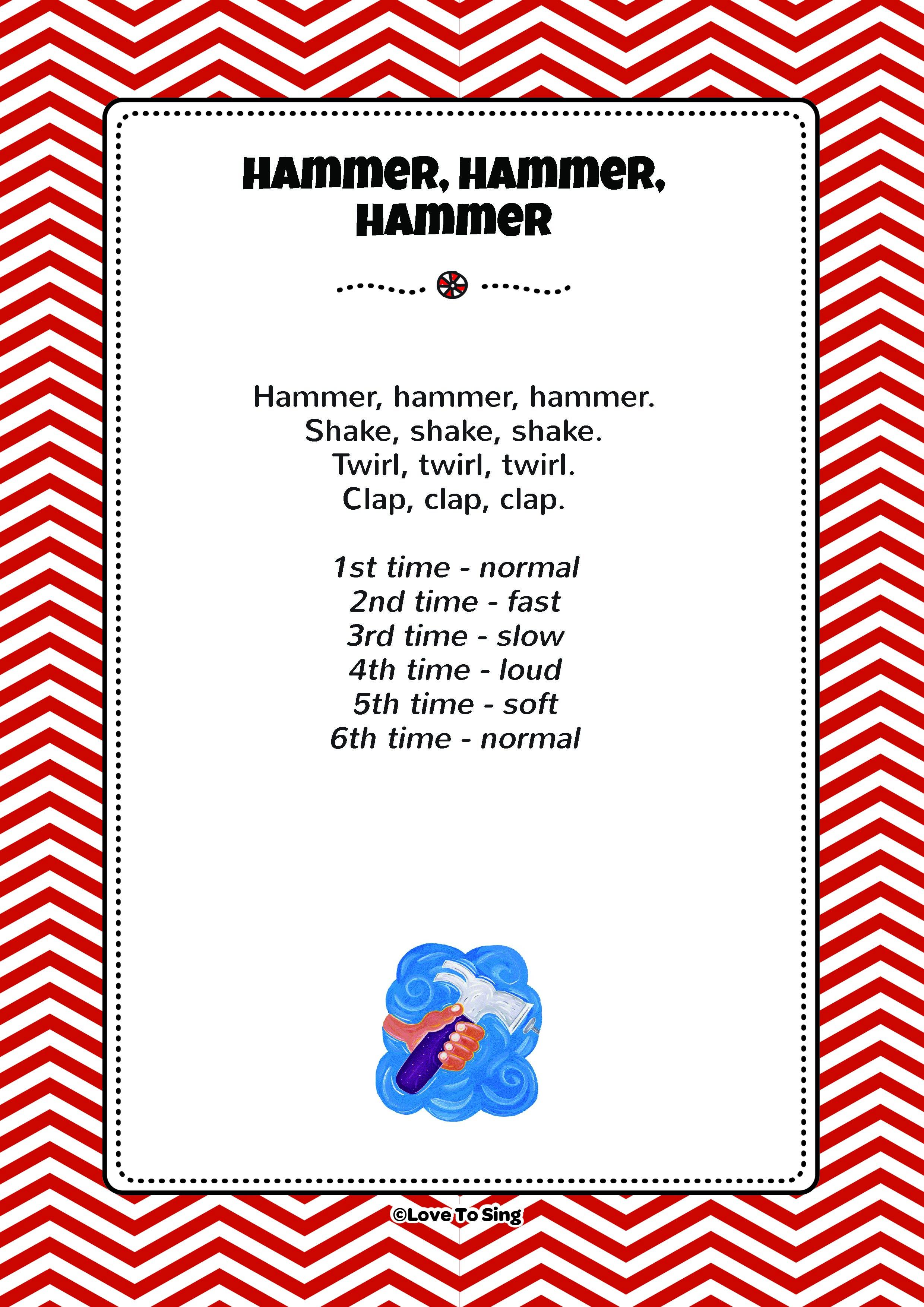 Hammer Hammer Hammer Kids Action Song Movements