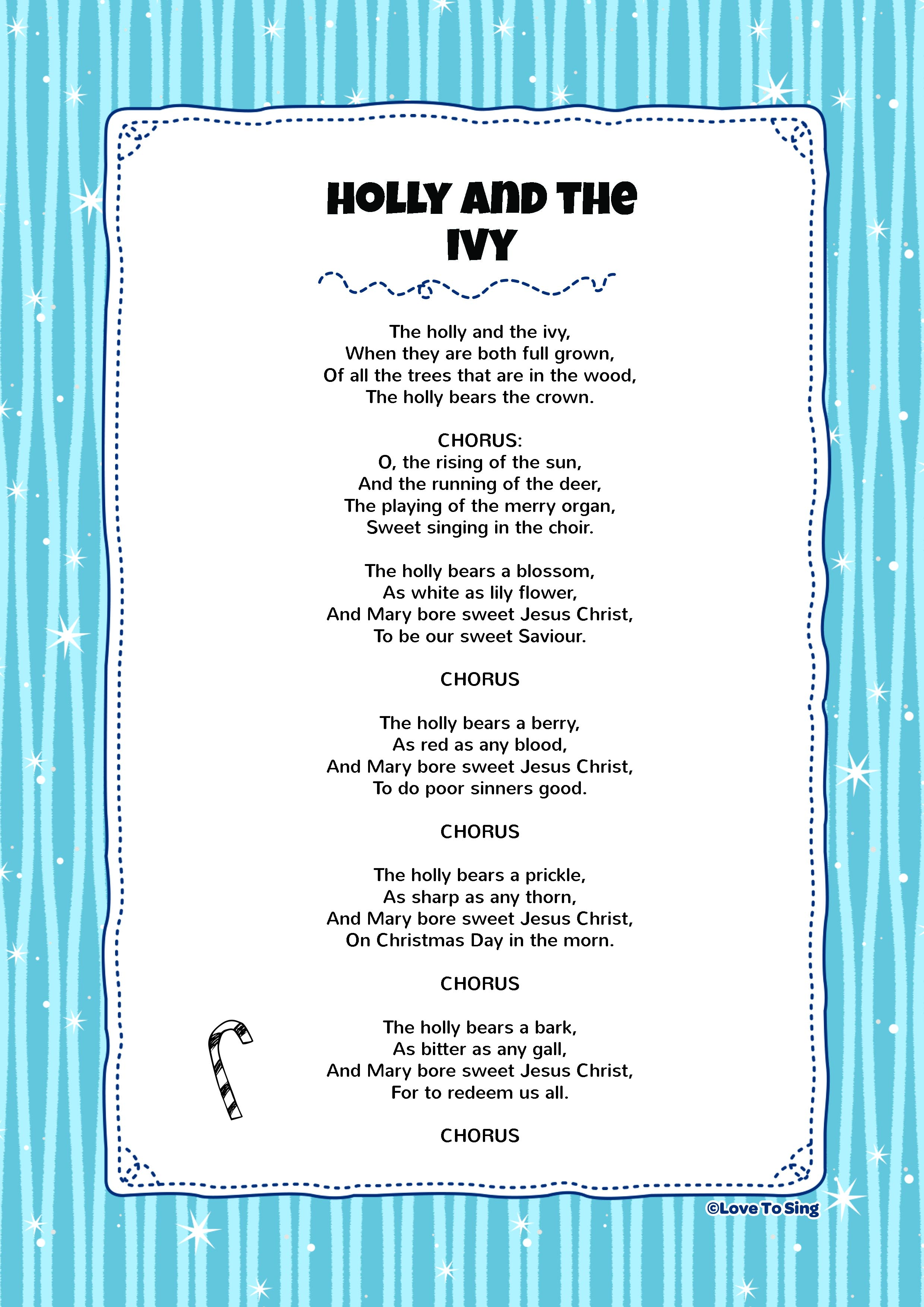 Holly And The Ivy | Kids Video Song with FREE Lyrics ...