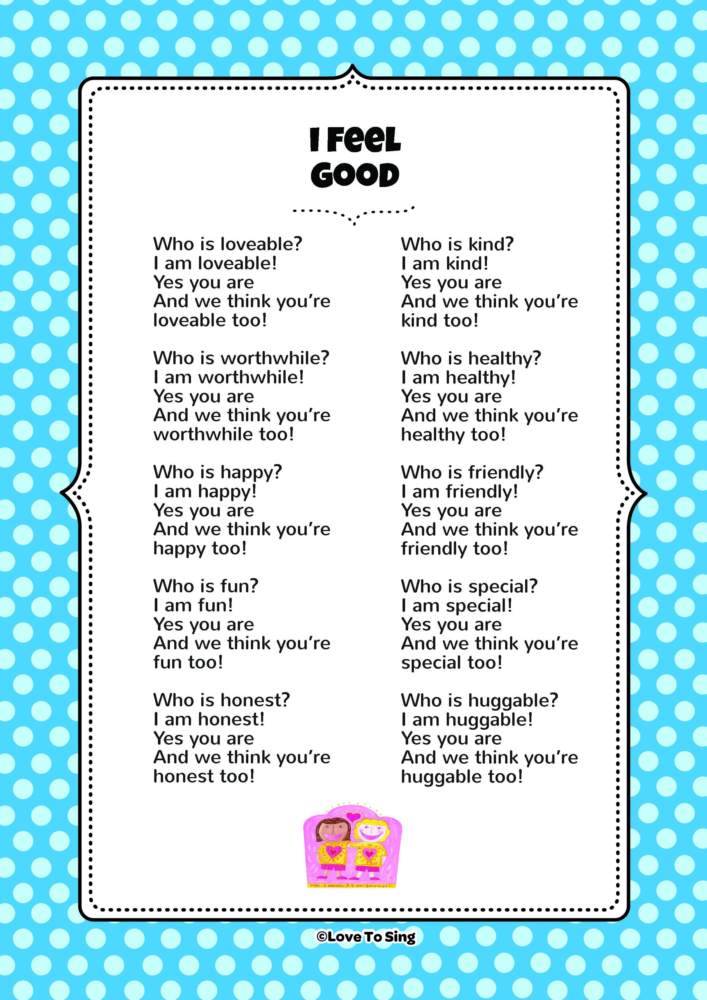 I Feel Good | Kids Video Song with FREE Lyrics & Activities!