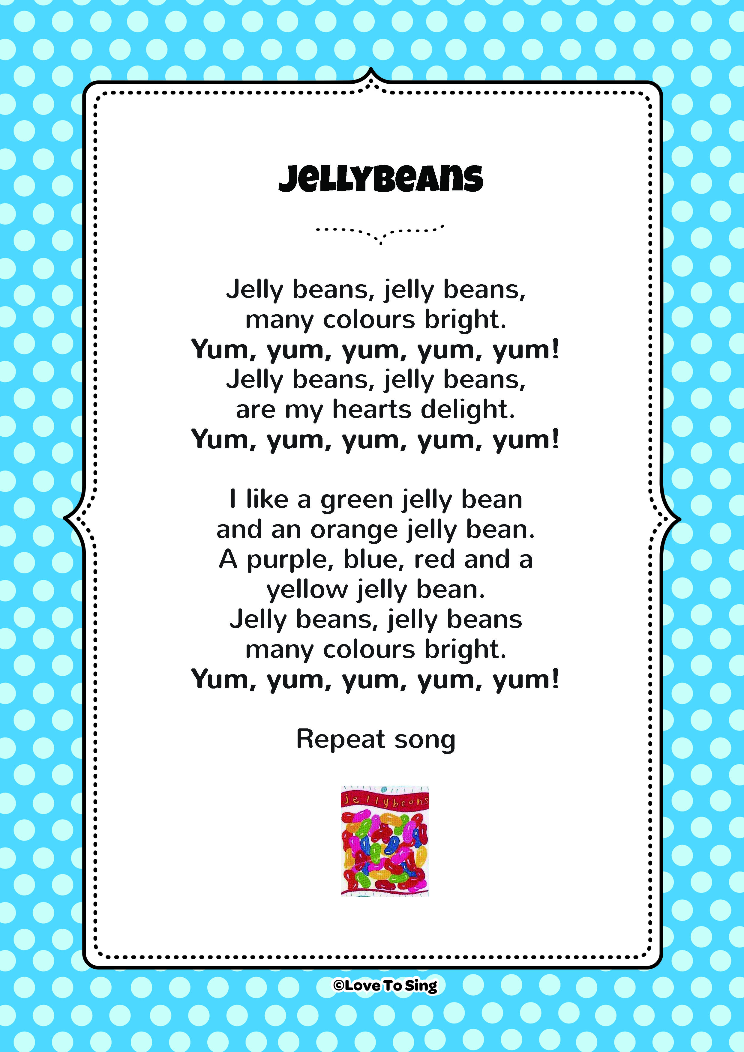 Jelly Beans Colour Song | FREE Video Song, Lyrics & Activities