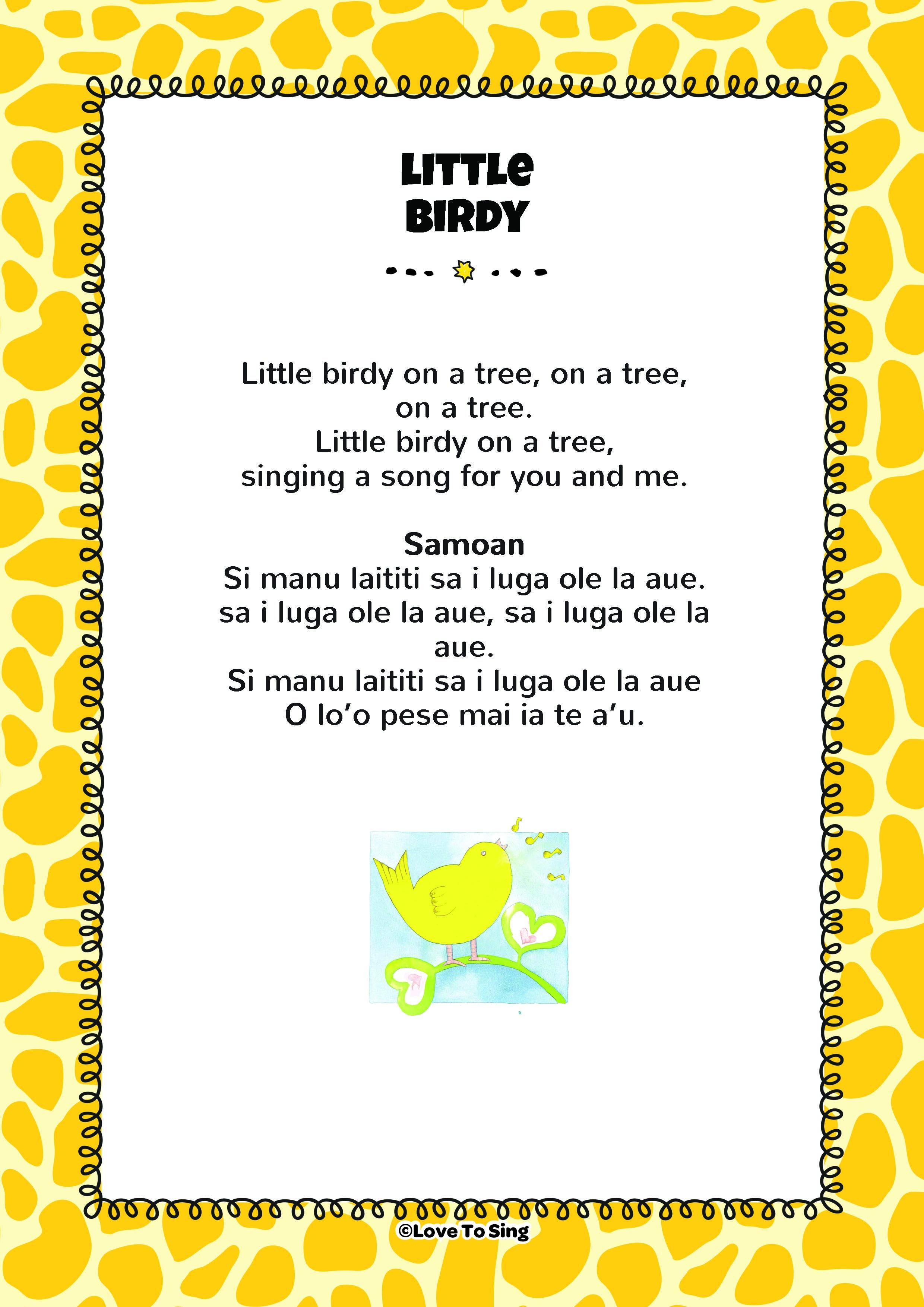 Little Birdy on a Tree | English & Samoan | FREE Video & Lyrics
