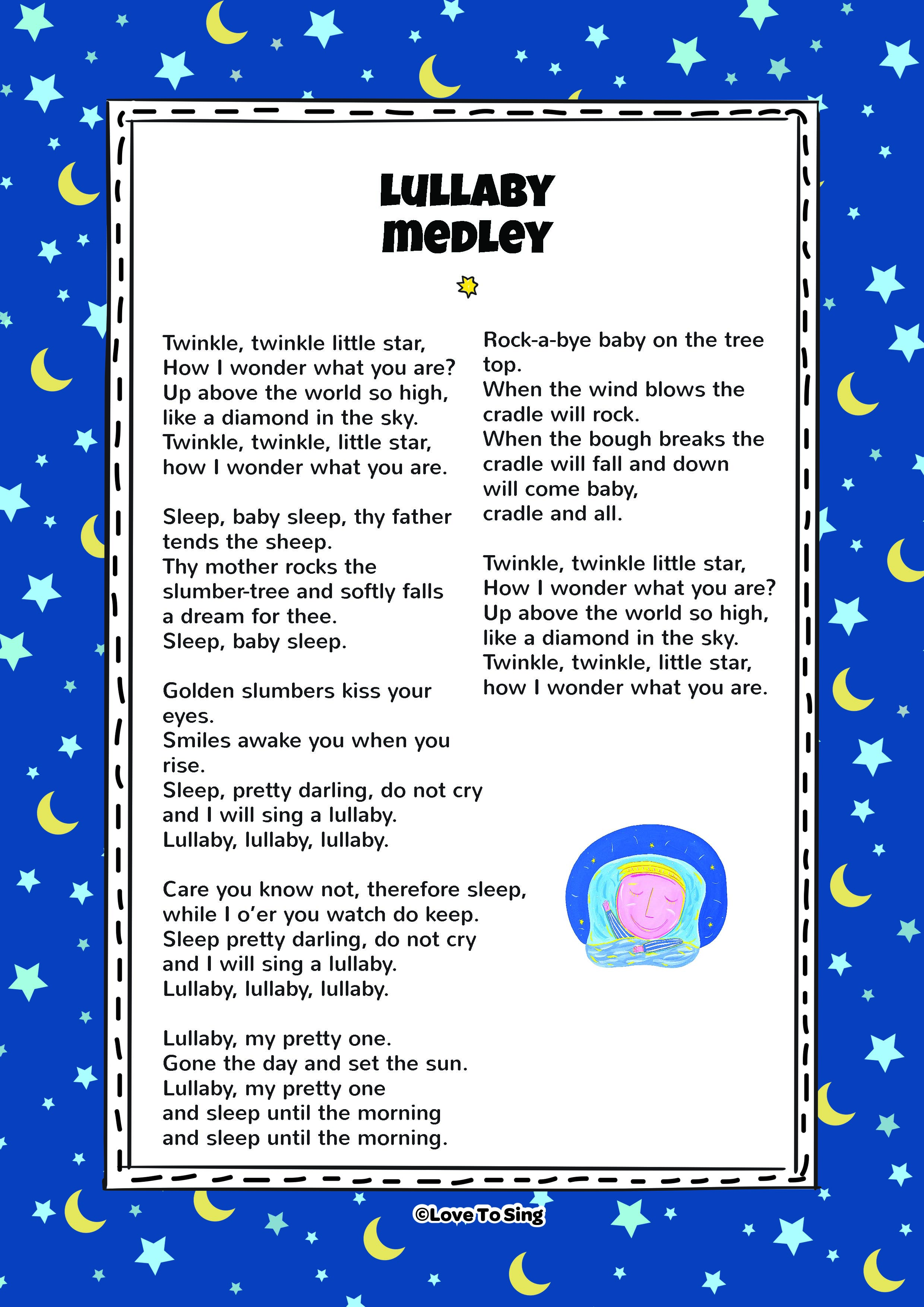 Lullaby Medley | Kids Video Song with FREE Lyrics ...