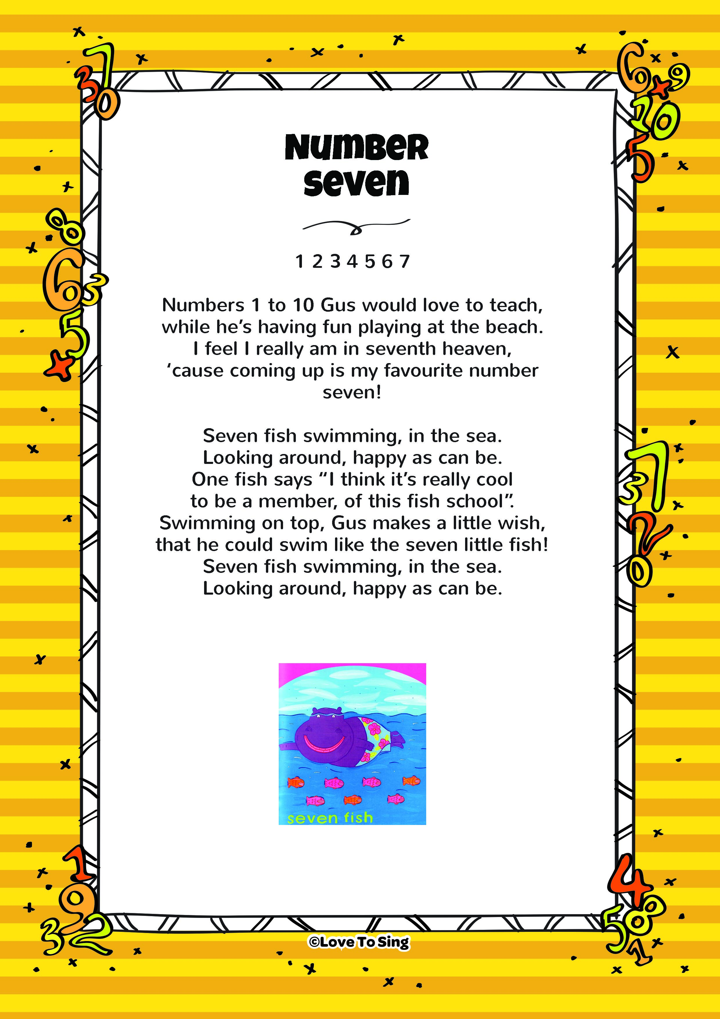Seven Fish - Number 7 | Kids Video Song with FREE Lyrics ...