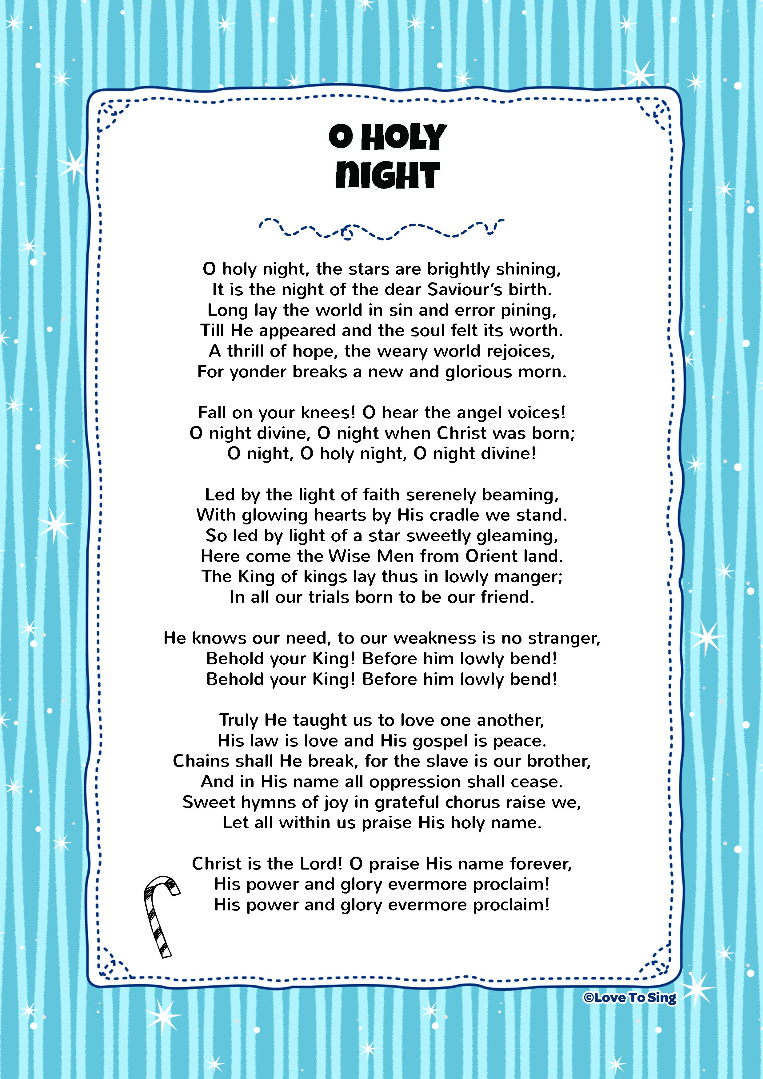 O Holy Night | Kids Video Song with FREE Lyrics & Activities!