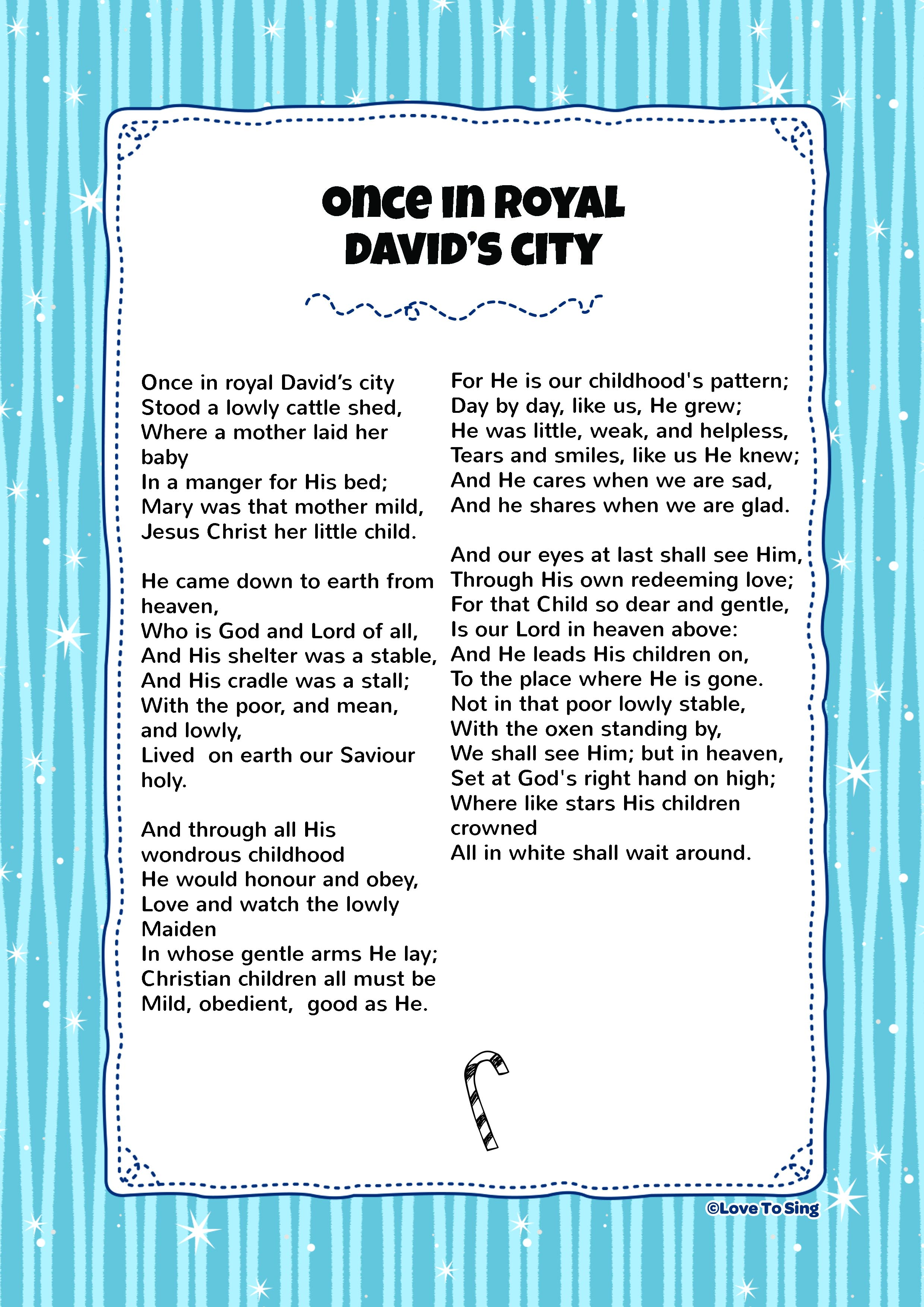 Once In Royal David S City Kids Video Song With Free
