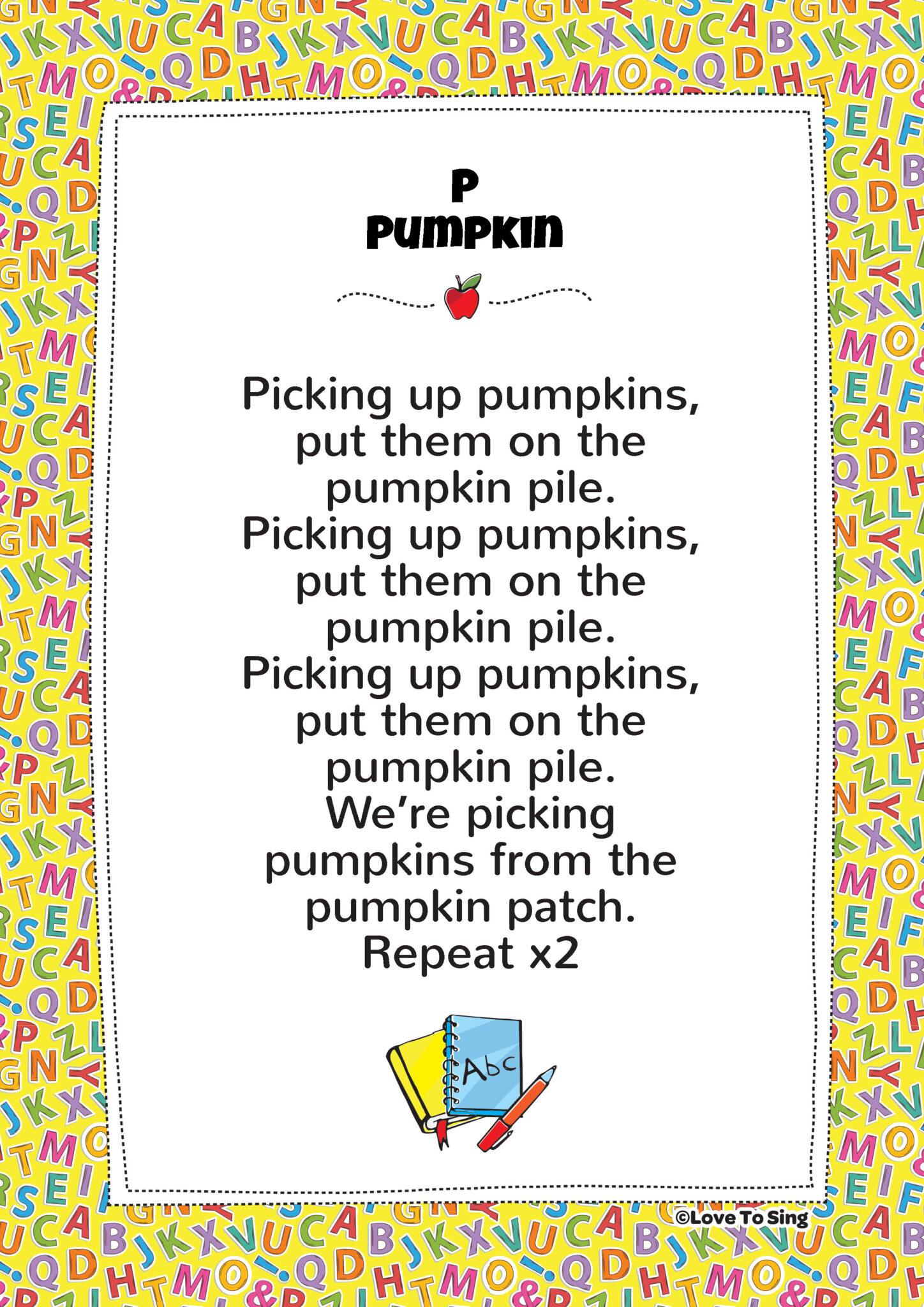 P Pumpkin Phonics Song