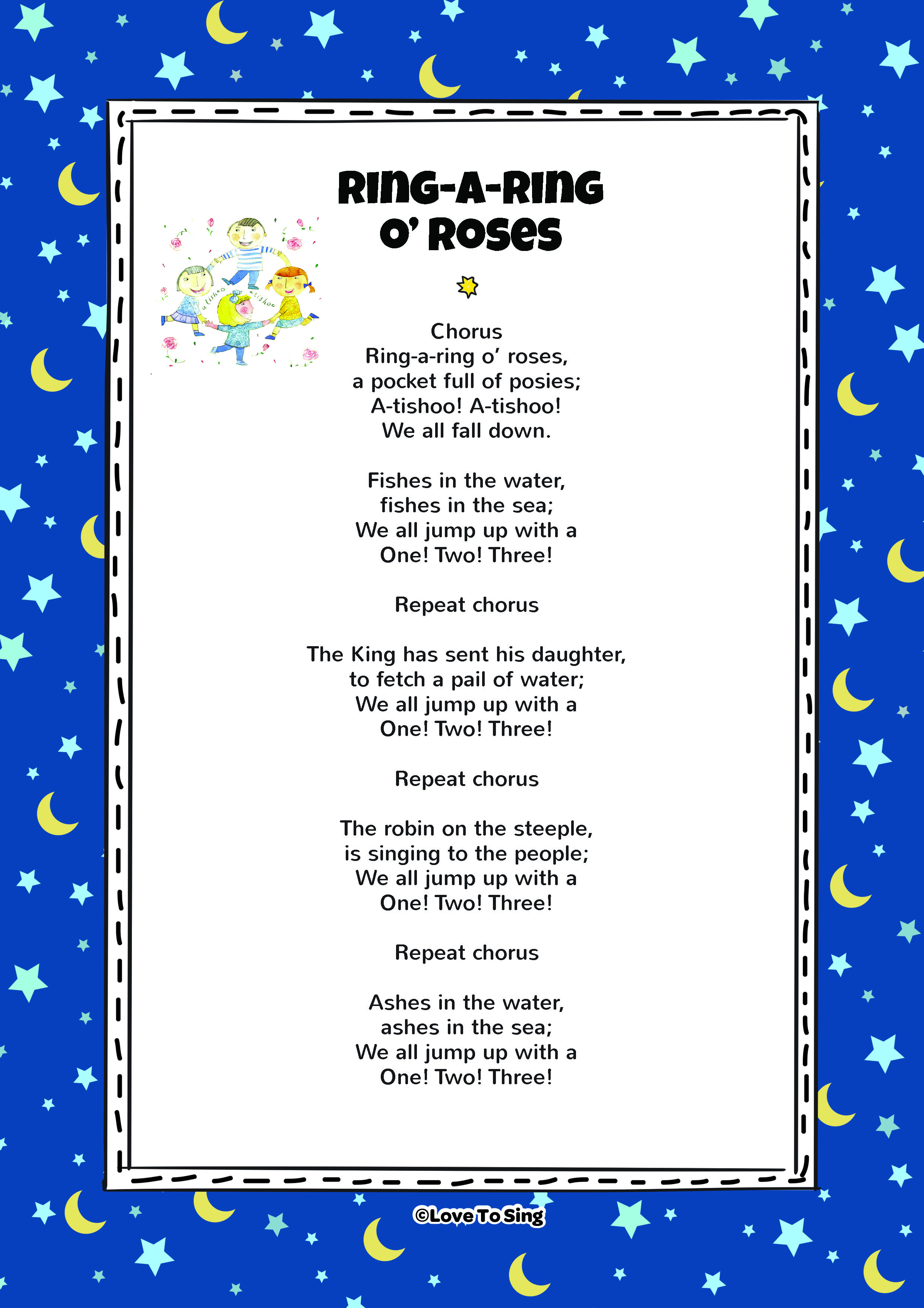 Ring A Ring O Roses | Kids Video Song with FREE Lyrics ...
