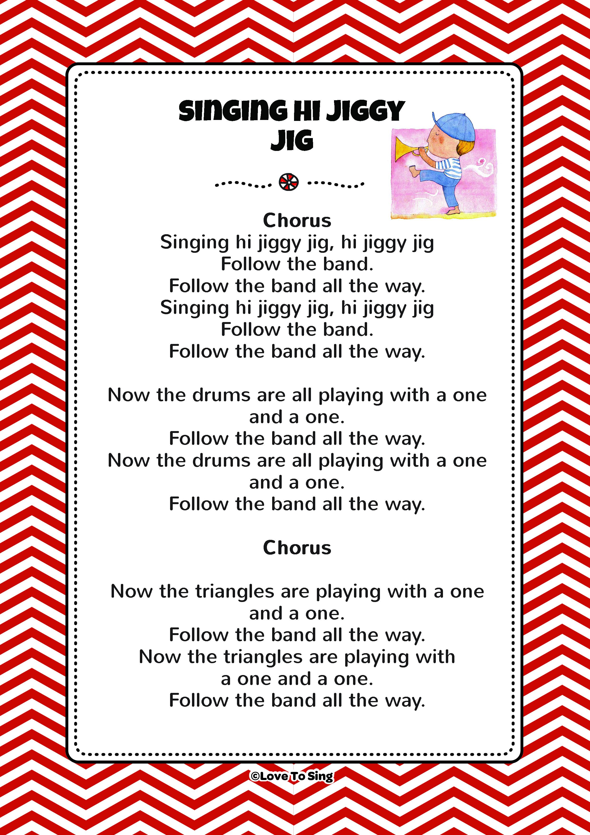 Singing Hi Jiggy Jig | Kids Video Song with FREE Lyrics