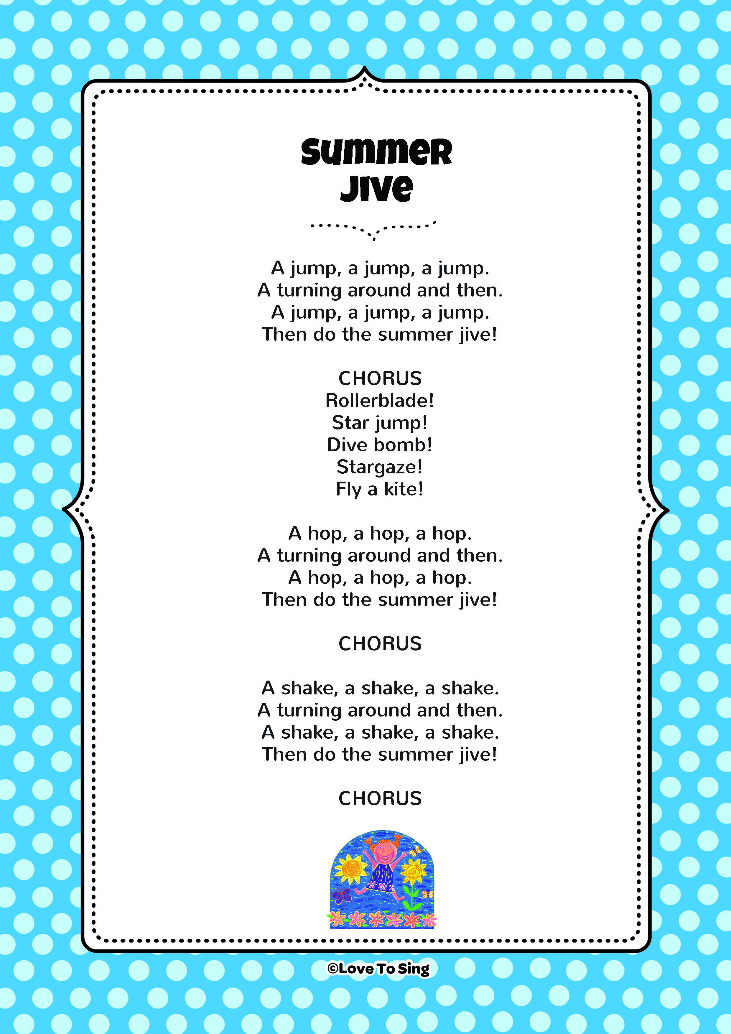 summer jive kids video song with free lyrics u0026 activities