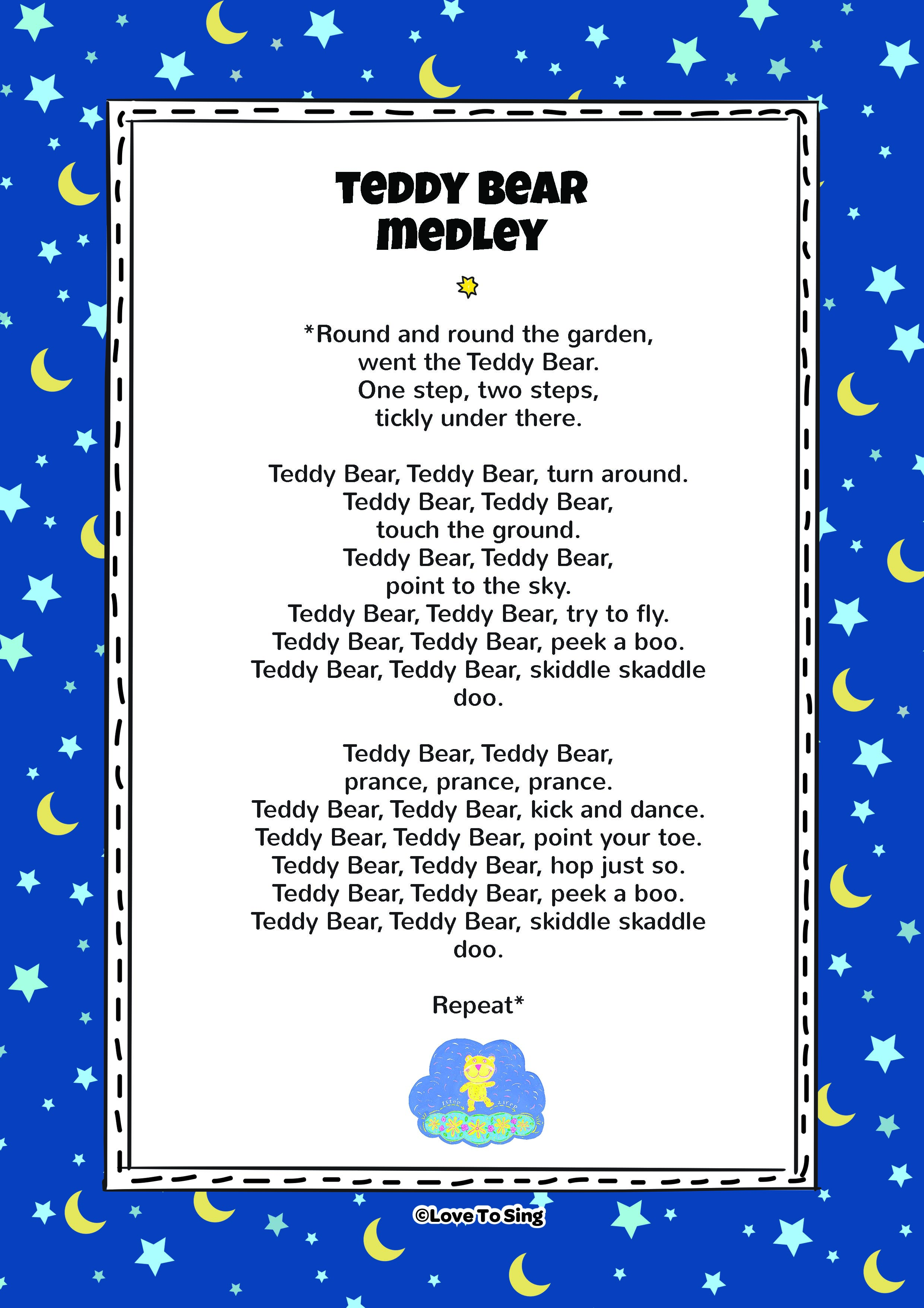 Teddy Bear Medley Nursery Rhyme Free Kids Videos