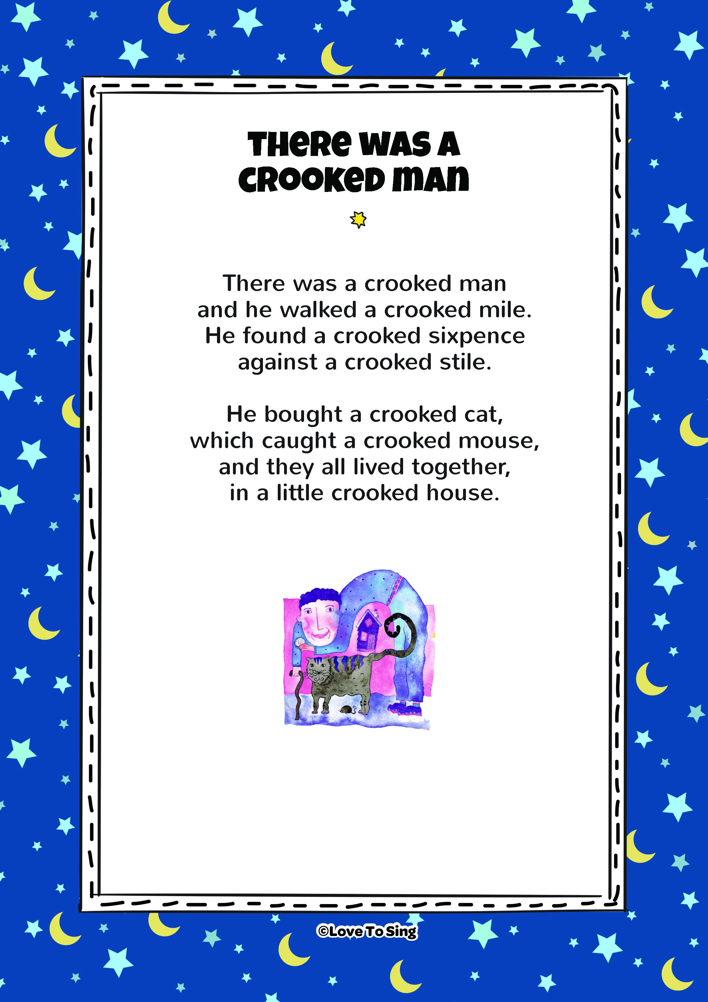 Printable Pdf There Was A Crooked Man