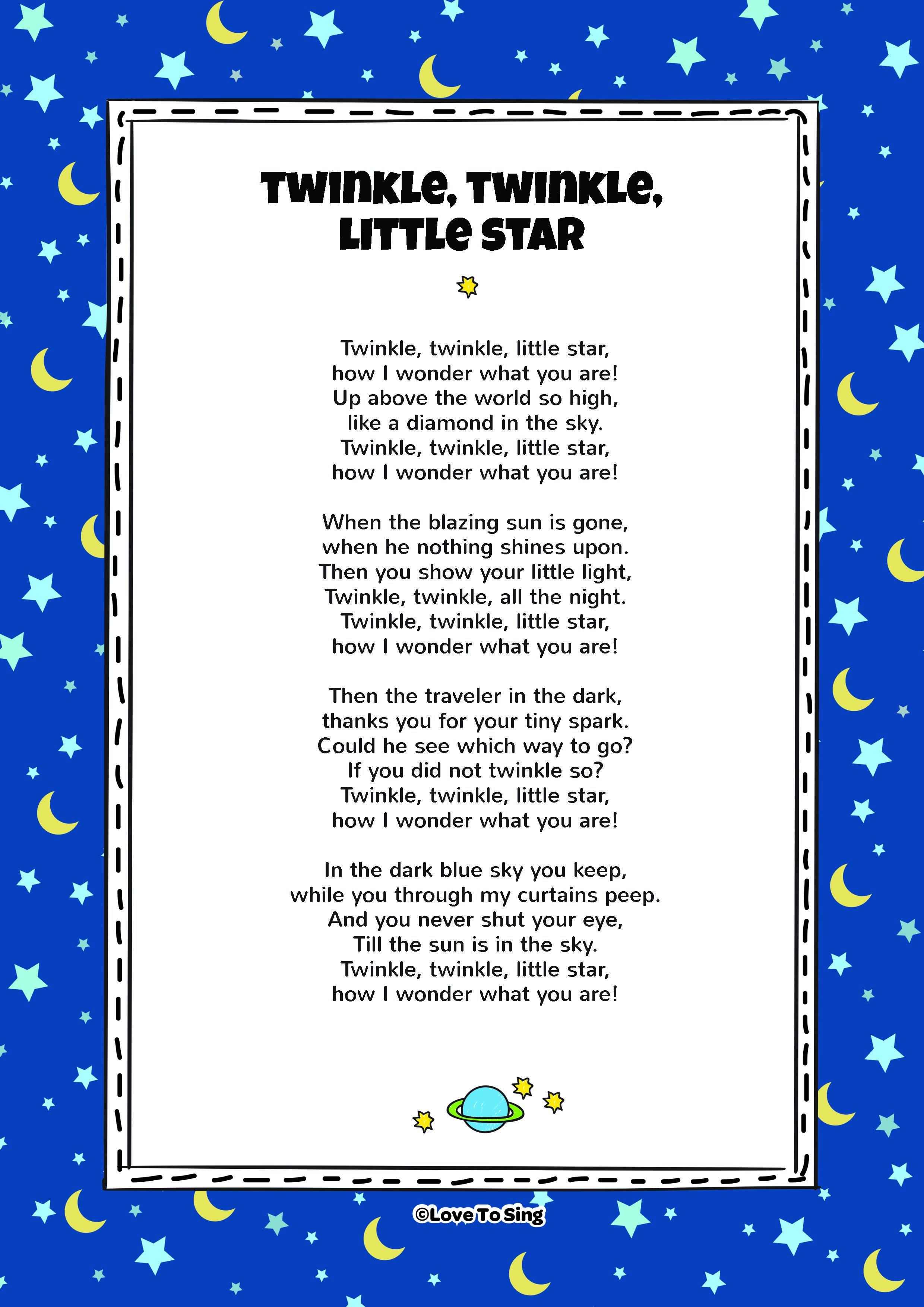 0fbb593cc Twinkle Twinkle Little Star | Kids Video Song with FREE Lyrics ...