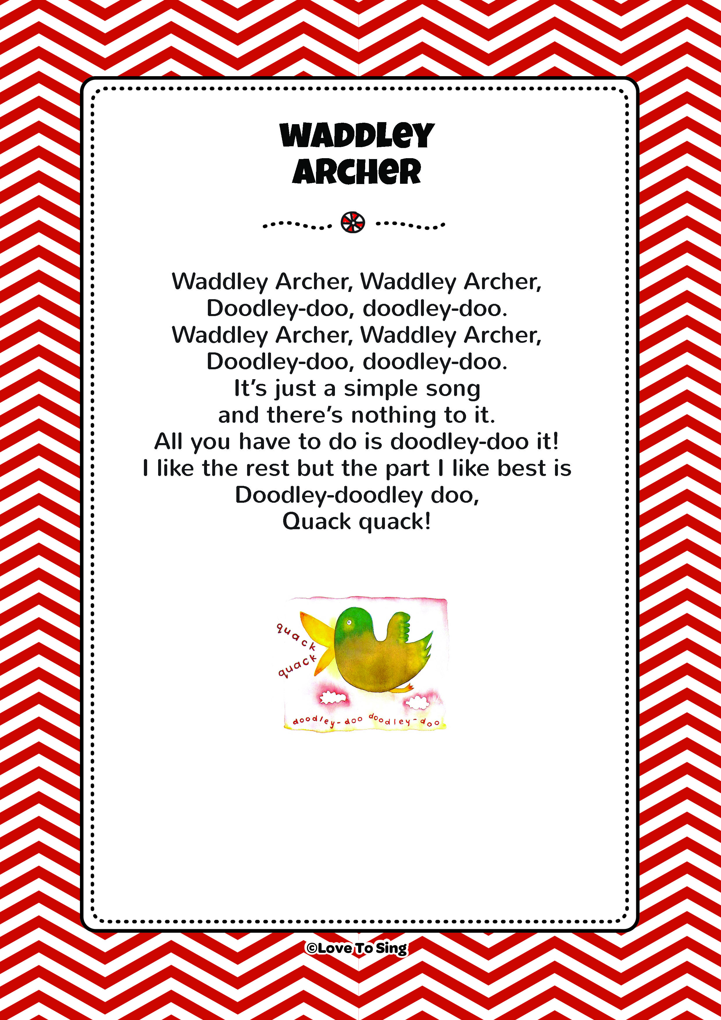 Waddley Archer Song | FREE Lyrics & Activities