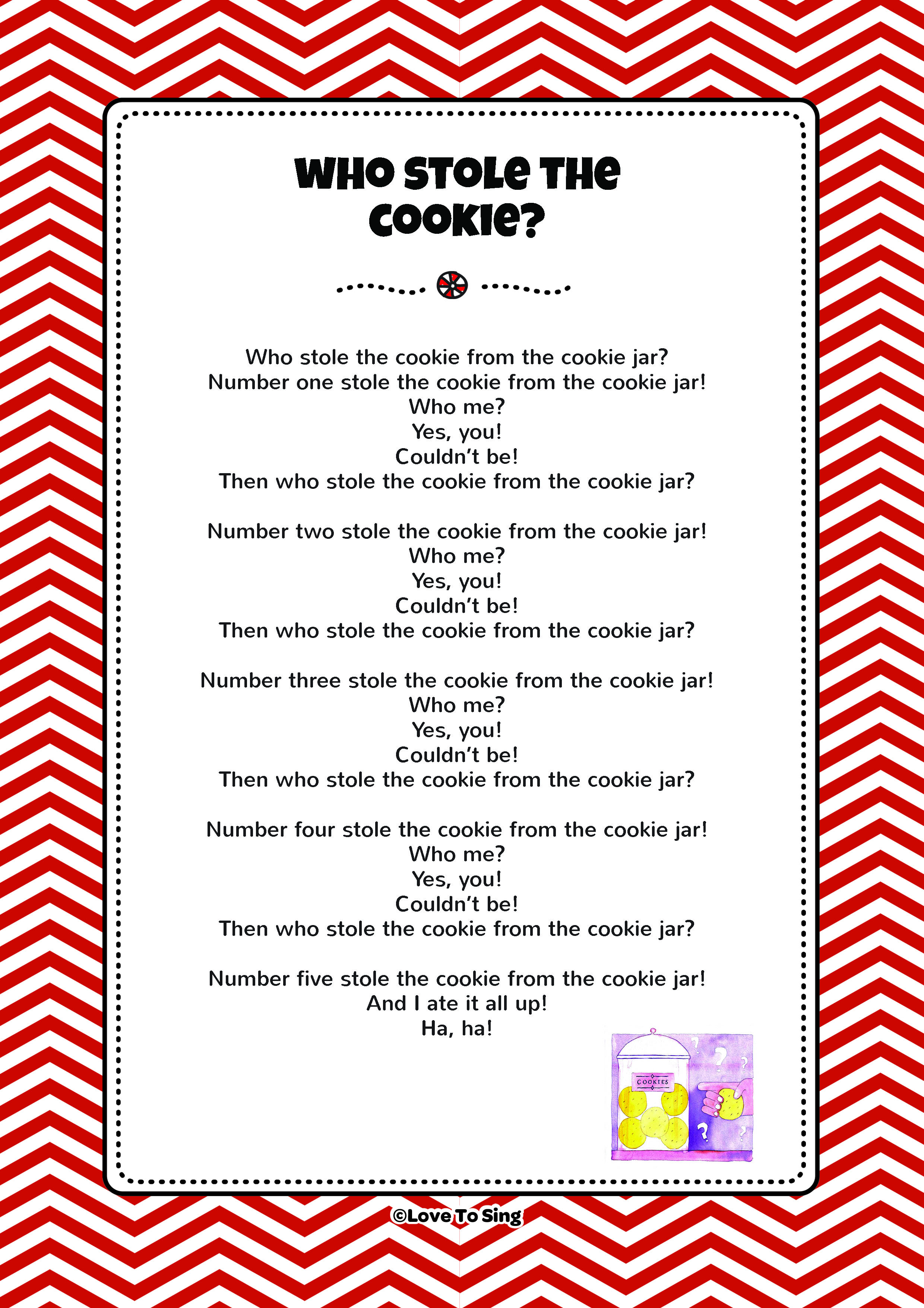 Who Stole The Cookie Kids Video Song With Free Lyrics