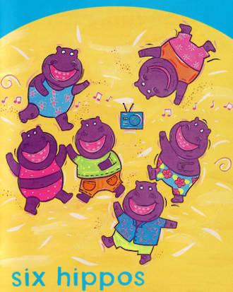 Six Hippos -rockin' Hippos - Six Rockin' Hippos - Learn Number 6