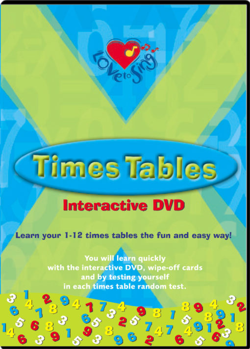 Love to Sing Times Tables DVD