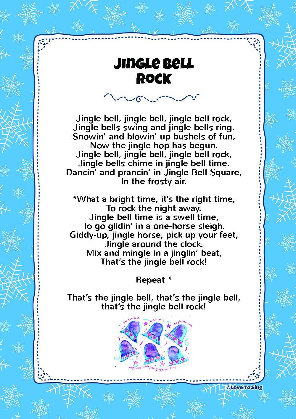 Jingle Bell Rock | Kids Video Song with FREE Lyrics & Activities!