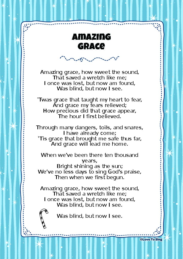 photograph regarding Amazing Grace Lyrics Printable referred to as Unbelievable Grace Children Video clip Track with Cost-free Lyrics Functions!