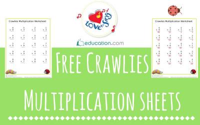 education free crawlies multiplication sheets